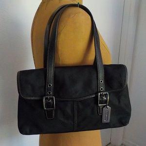 Coach Black Vintage Nylon/Leather Shoulder Bag